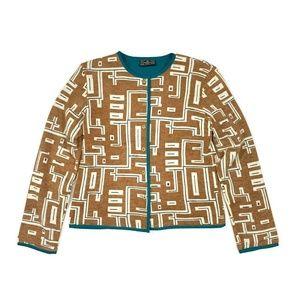 100% Auth FENDI FF Cardigan Sweaters Turquoise